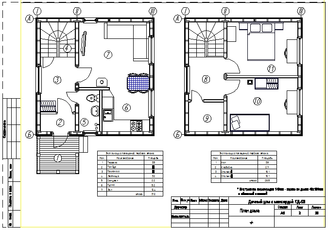 готовый проект каркасного дома 6х11 с чертежами